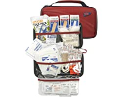 LIFELINE-4180 AAA 121 Piece Road Trip First Aid Kit packaged in compact hard shell foam carry case, ideal for emergency use i