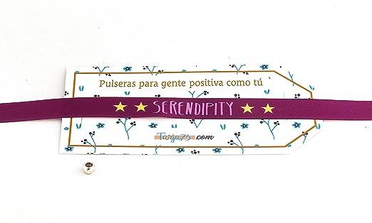 Pulseras de tela con frases molonas: SERENDIPITY | Regalo original: Amazon.es: Hogar