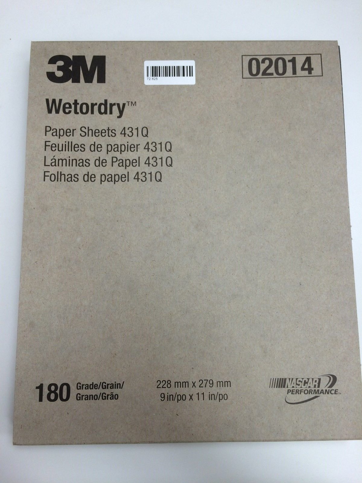 3M Imperial Wet or Dry 180 Grit SandPaper / Abrasive Sheets 9'' x 11'' Pkg of 50