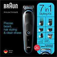 Braun MGK 3245 All-in-one Trimmer 7-in-1 Beard Trimmer, Hair Clipper, Detail Trimmer, Rechargeable, with Gillette…