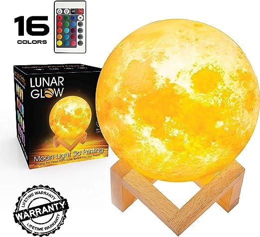 Amazon.com: LUNAR - Lámpara de luna con luz LED 3D con ...