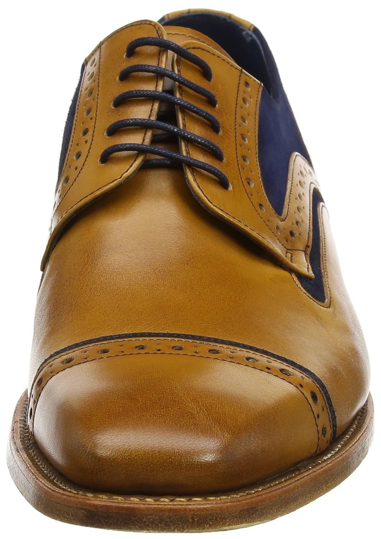 Haig, Derbys Homme, Marron (Cedar Calf/Blue Suede 27), 42.5 EUBarker