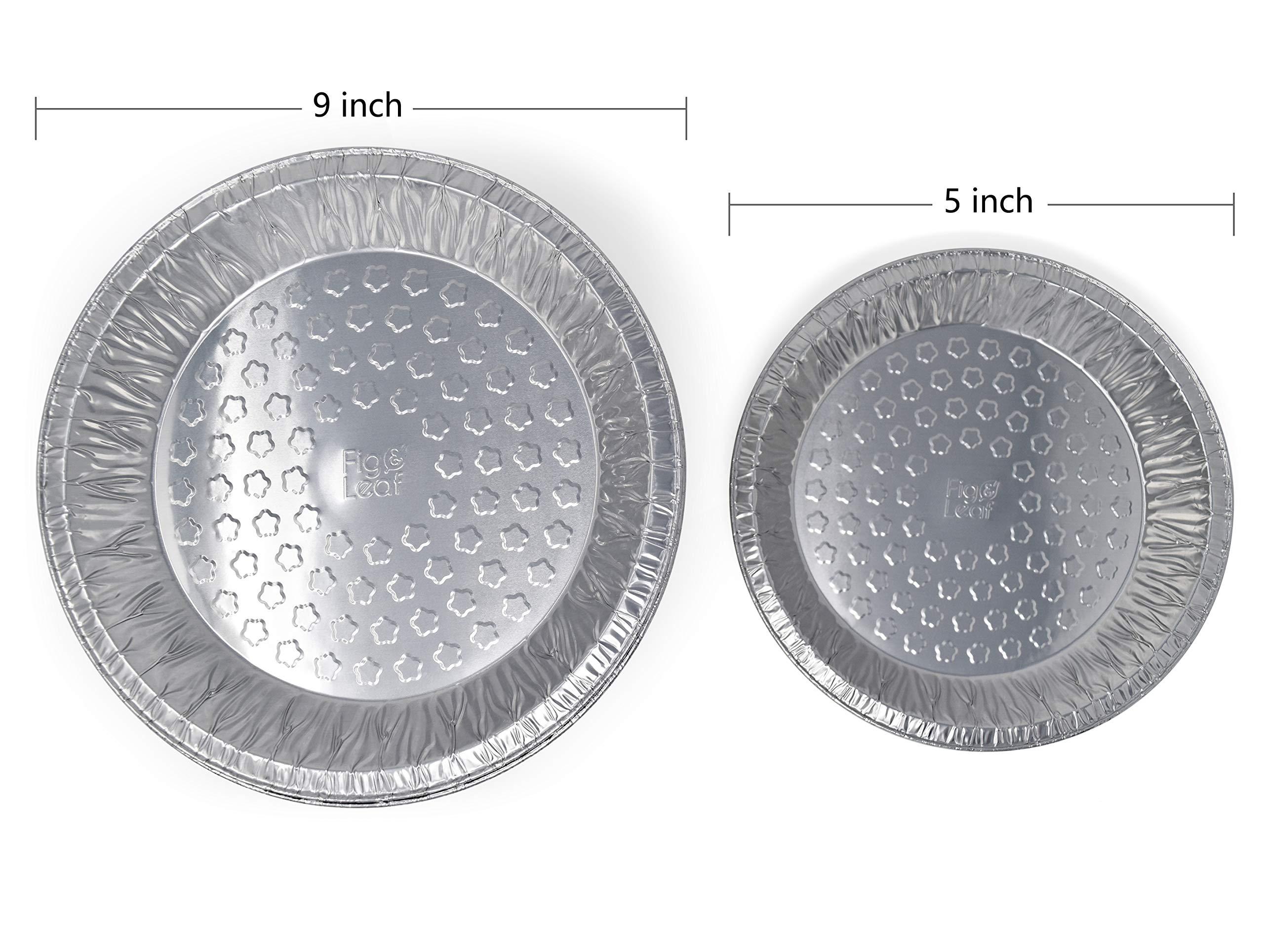 Fig & Leaf (120 Pack) Premium 9-Inch Pie Pans l 36 Gauge l Disposable Tart Pan Tin Plates Aluminum Foil for Baking Quiche by Fig & Leaf (Image #4)