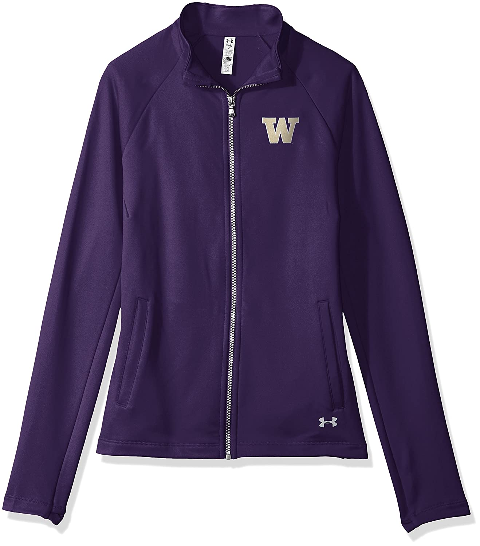 Purple Under Armour NCAA Womens Terry Back Full-Zip Hood X-Large