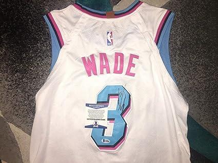 47523f9b8b0da Dwyane Wade Autographed Signed Memorabilia Miami Heat Jersey Vice One Last  Dance Beckett