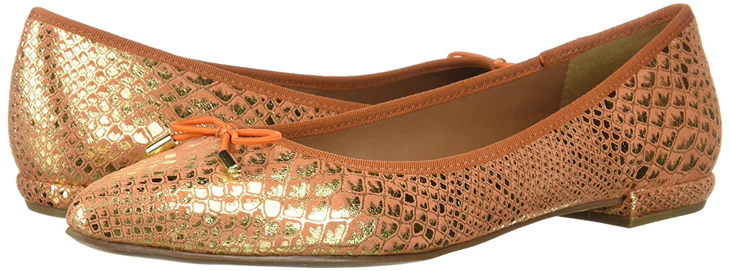 French Sole B0765H2CXC FS/NY Women's Anaconda Ballet Flat B0765H2CXC Sole 8 B(M) US|Orange 77af1a
