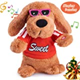 Musical Dancing Singing Electronic Dog Interactive Puppy Pet Toy Animated Pet , Flying Ears, Rock Body, Singing 6 Songs Plush Dog Toys for Girls Boys Kids Toddlers Baby Toy Gifts