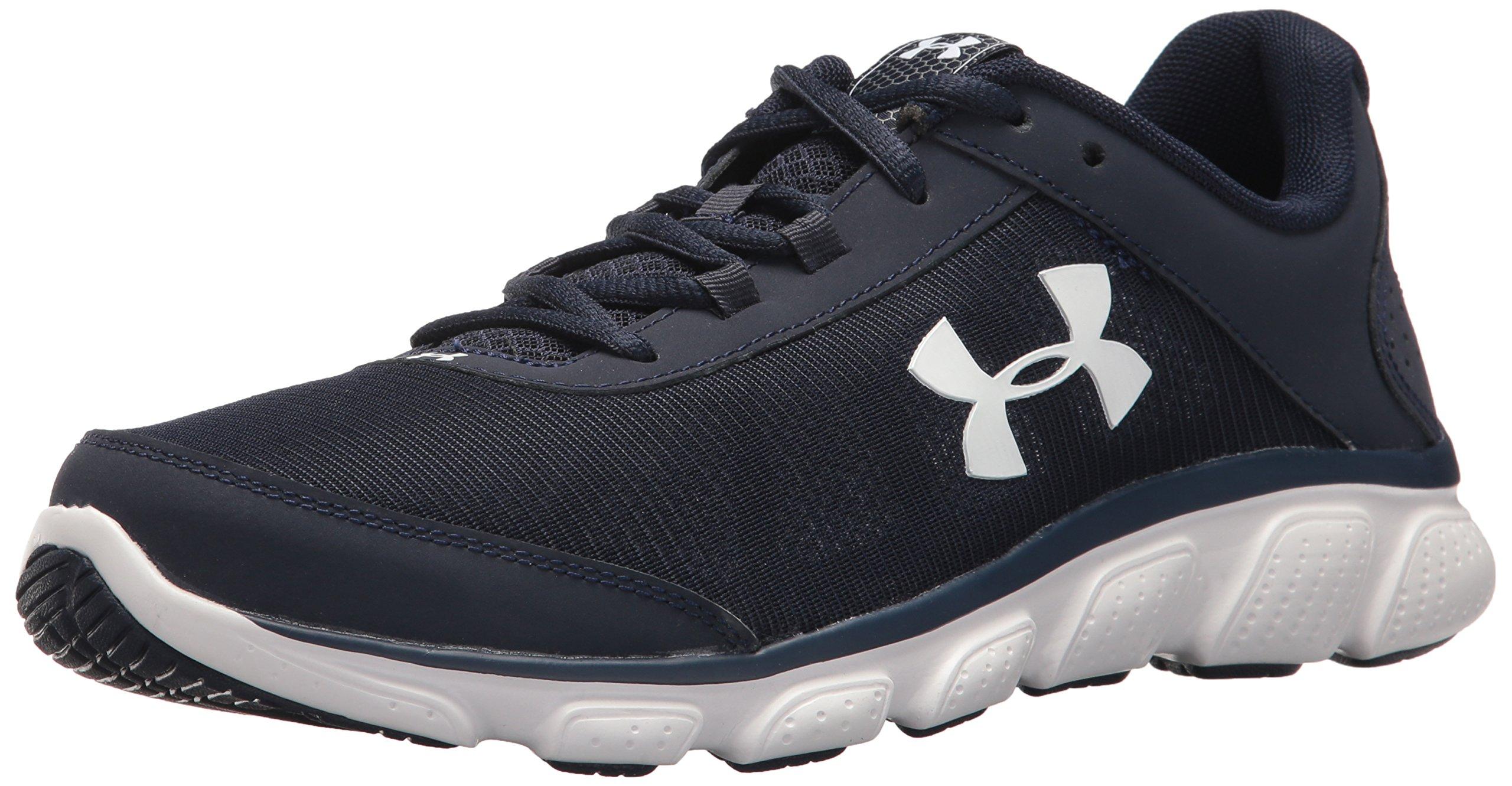 Under Armour Men's Micro G Assert 7 Running Shoe, Midnight Navy (400)/White, 7.5 M