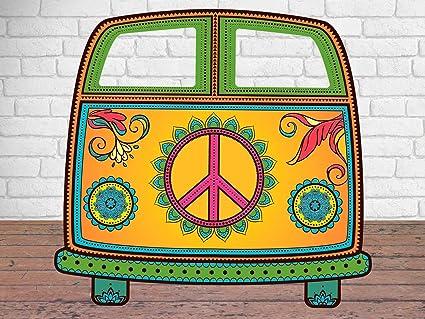 Oedim Photocall Furgo Hippy 151x157m Photocall Furgoneta Hippie - Decoracion-hippie-fiesta