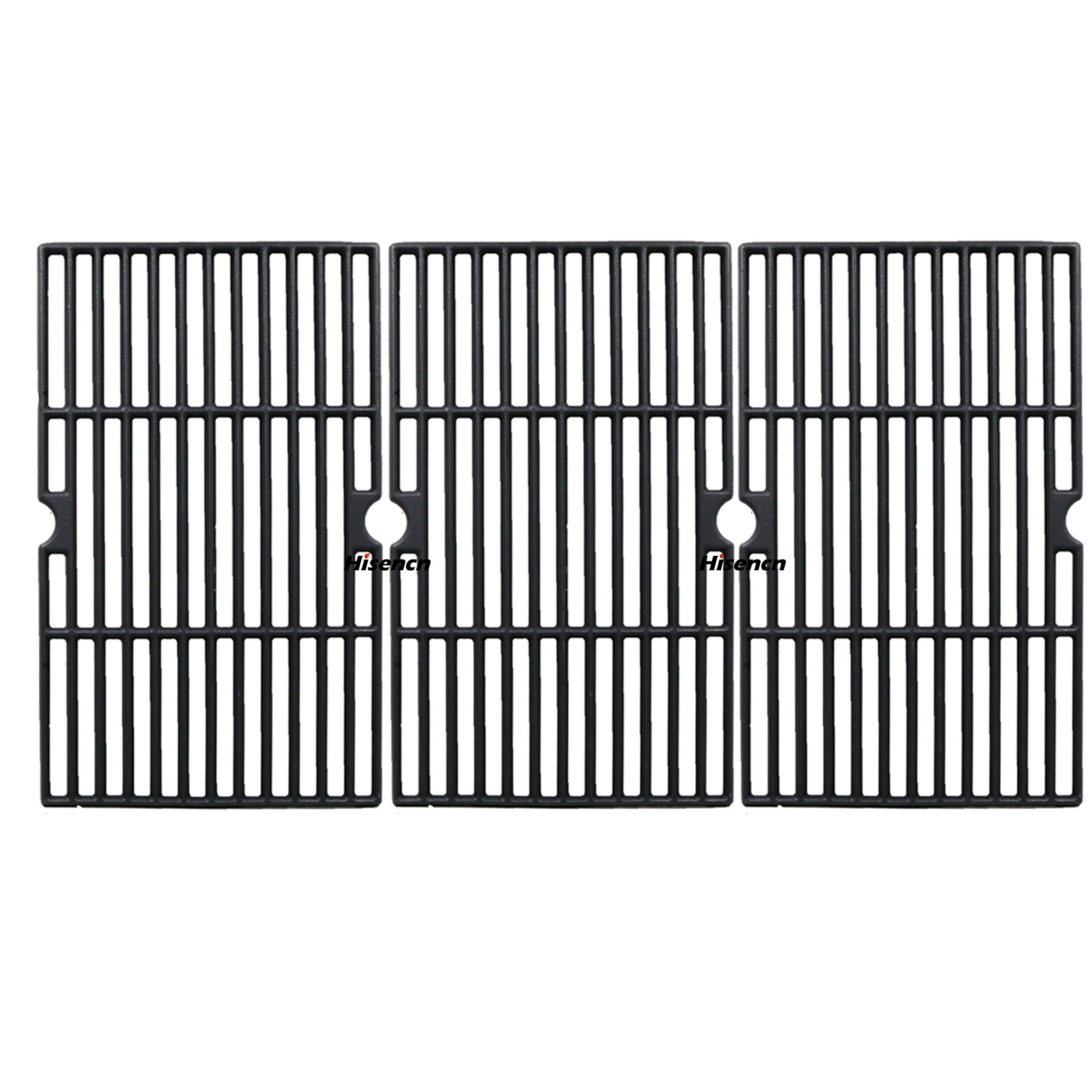 Hisencn Matte Cast Iron Cooking Grid Grates Replacement for Dynaglo DGF510SBP, Uniflame GBC1059WB, GBC1059WE-C, Backyard Grill BY12-084-029-98 and Other Gas Grill Models, 16 1/4 in by Hisencn