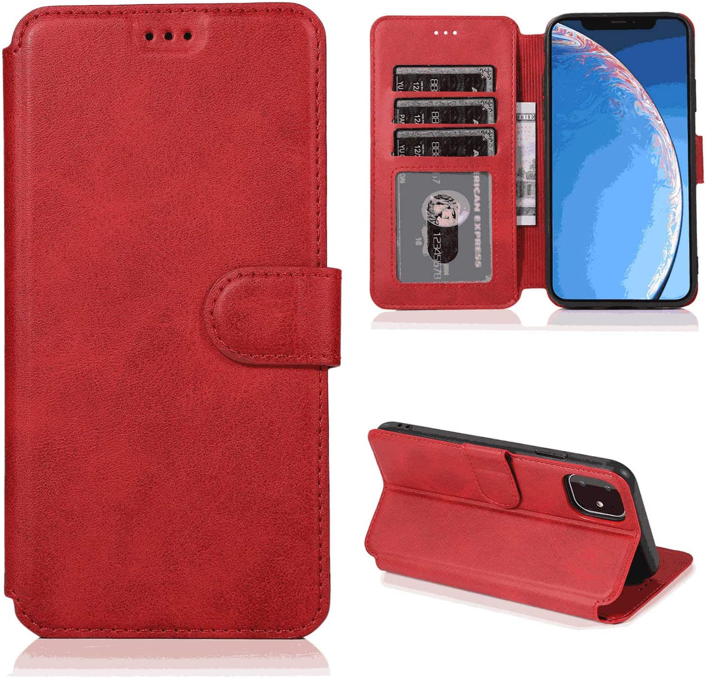 iPhone 7 Plus Flip Case Cover for Leather Card Holders Kickstand Extra-Shockproof Business Cell Phone case Flip Cover