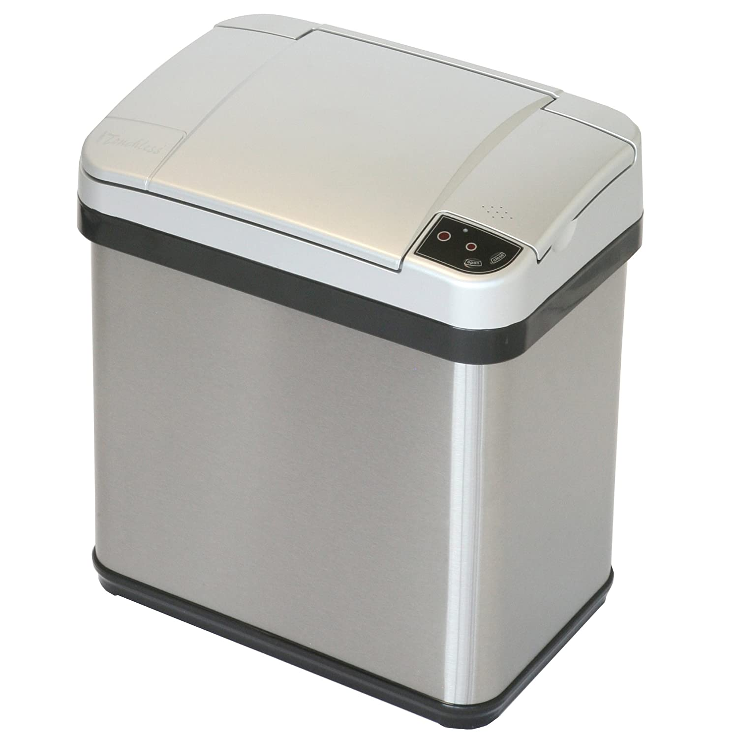 itouchless stainless steel trash can touchless sensor