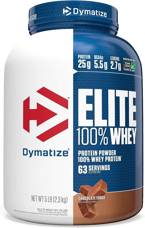 Elite Whey Protein (2268g) Dymatize-Chocolate Fudge