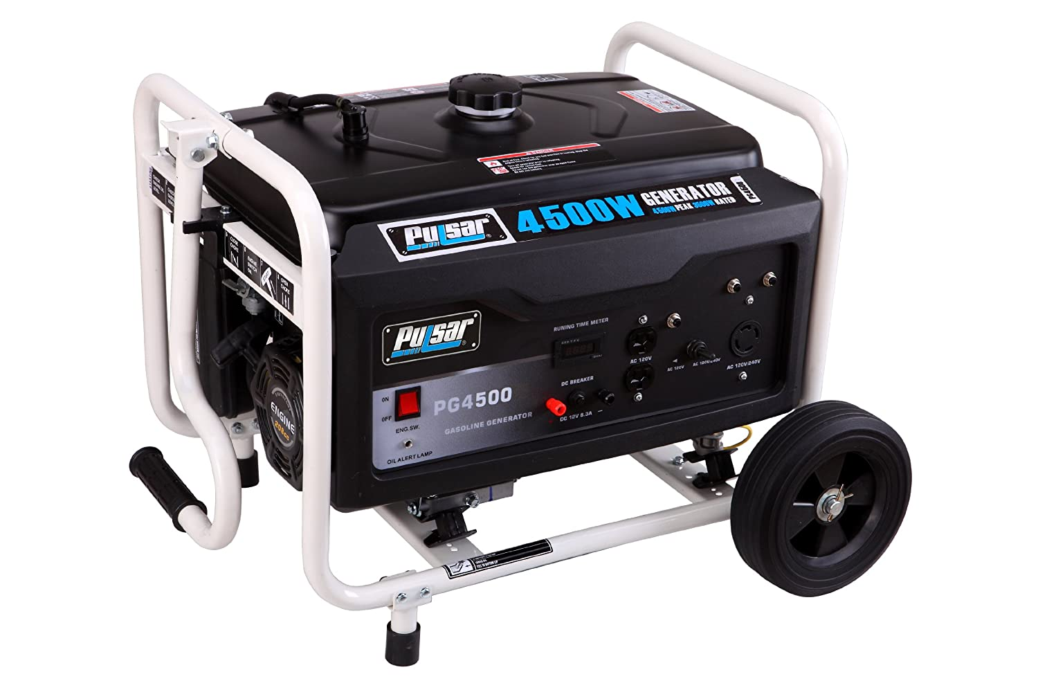 Pulsar Pg4500 4500w Peak 3500w Rated Portable Gas 50 Amp Rv Outlet Powered Generator Power Generators Garden Outdoor