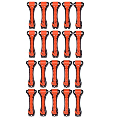 20 PCS Car Safety Hammer Emergency Escape Tool Auto Car Window Glass Hammer Breaker and Seat Belt Cutter Escape 2-in-1 for Family Rescue & Auto Emergency Escape Tools: Automotive