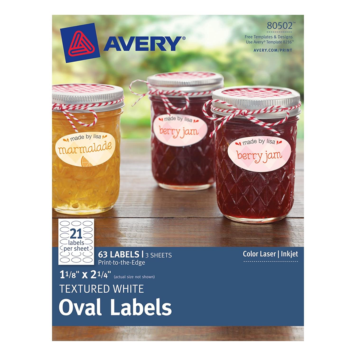amazoncom avery textured oval labels white 1125 x 225 inches pack of 63 80502 office products