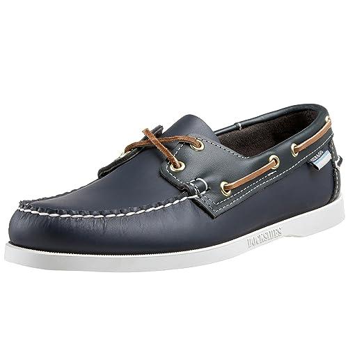 Sebago Zapatillas de Vela Para Hombre Azul Azul Marino/Verde: Amazon.es: Zapatos y complementos