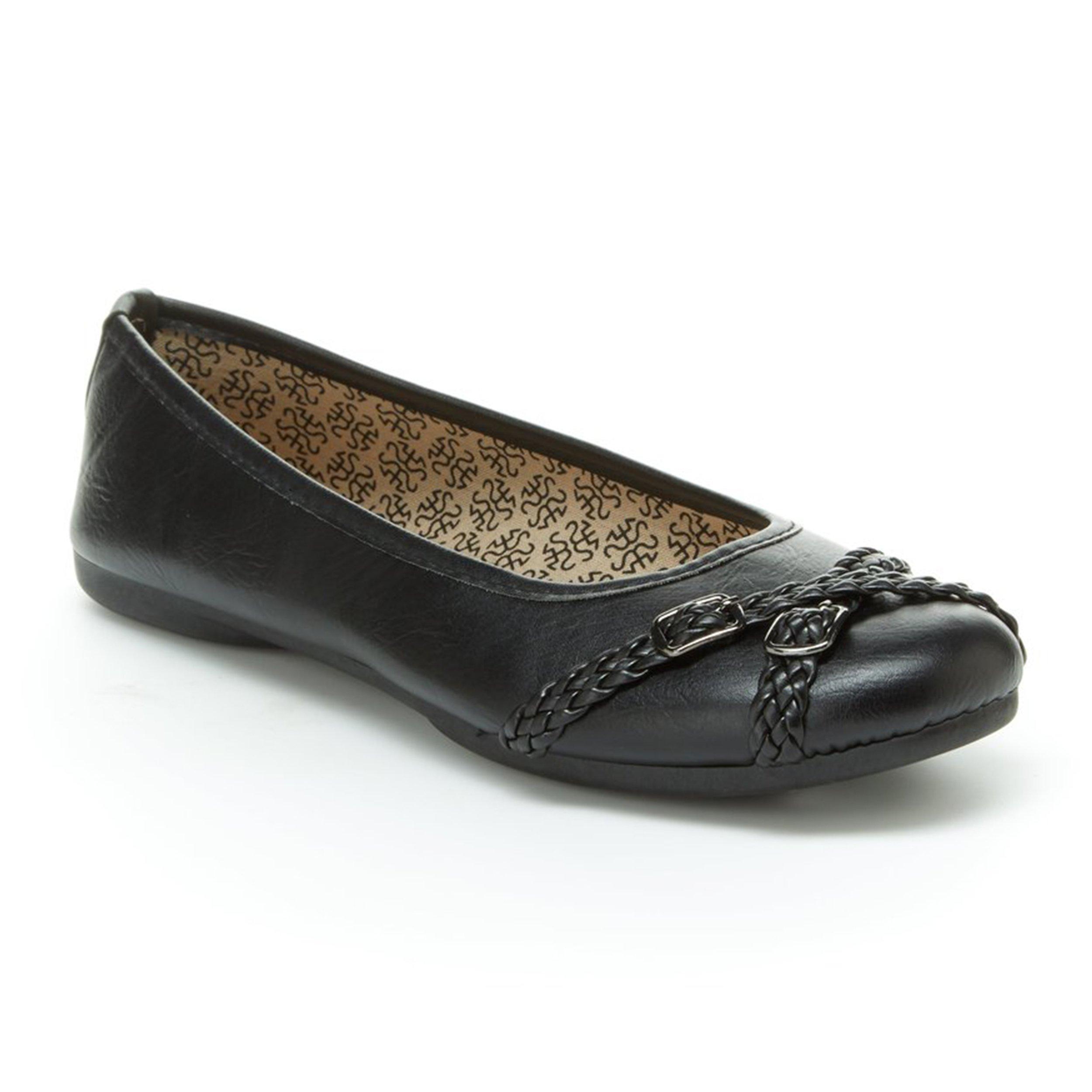 Harborsides Gwen Women Comfort Flats, Memory Foam Insole, Flex A Lite Outsole