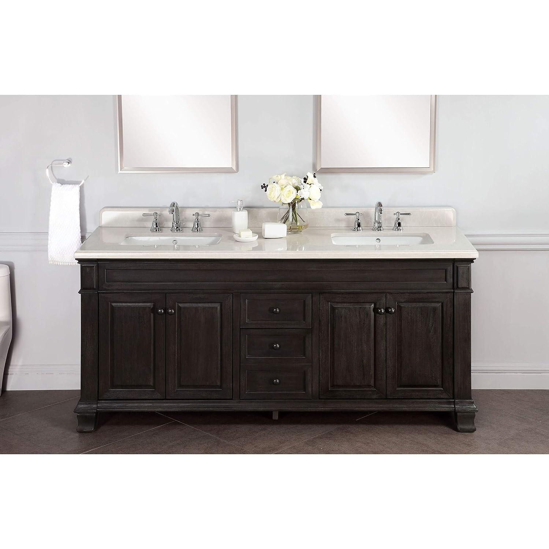 . Amazon com  Lanza WF6953 72 Kingsley 72 in  Double Bathroom Vanity