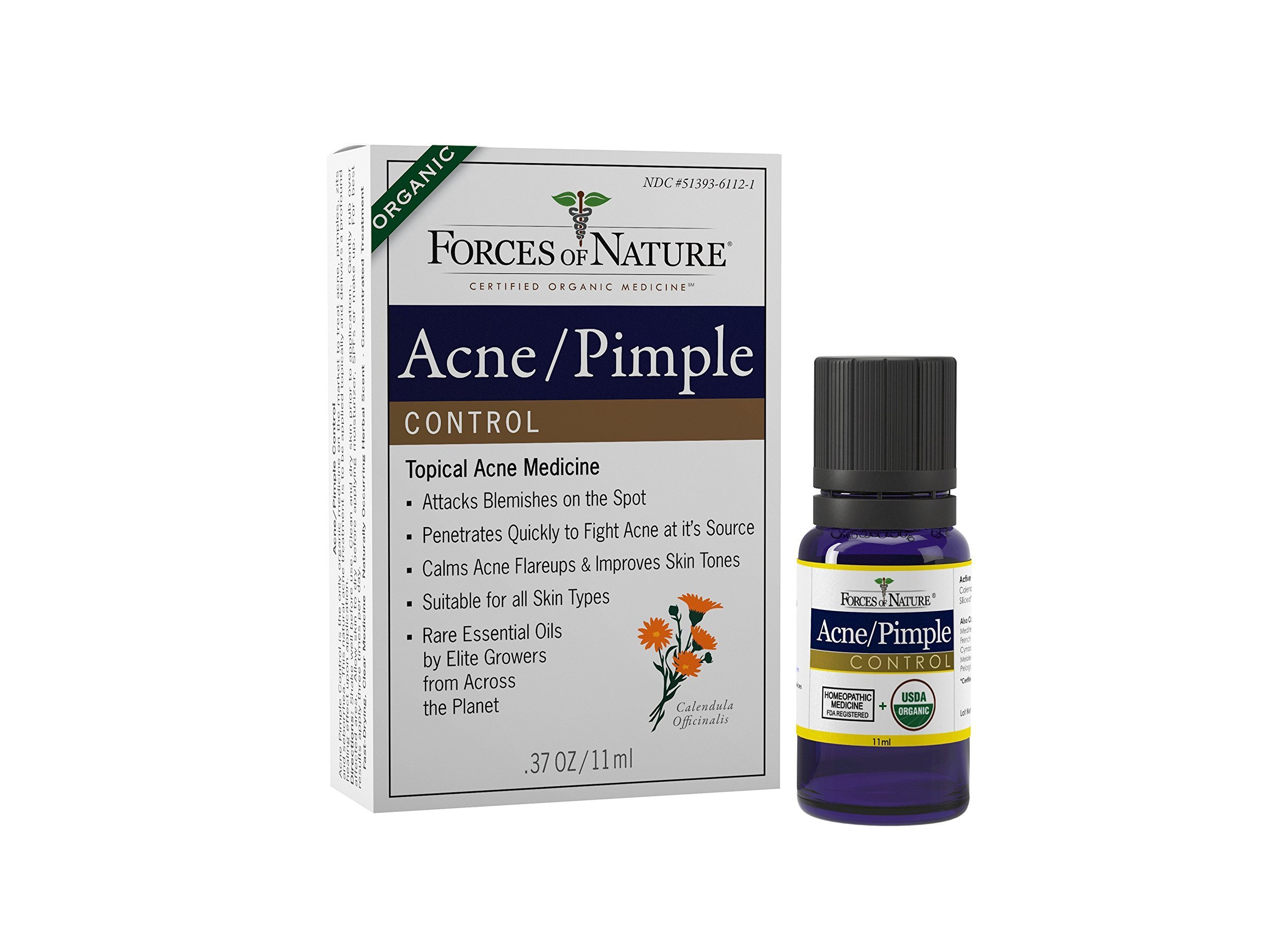 Forces of Nature Acne and Pimple Control, 11 ml