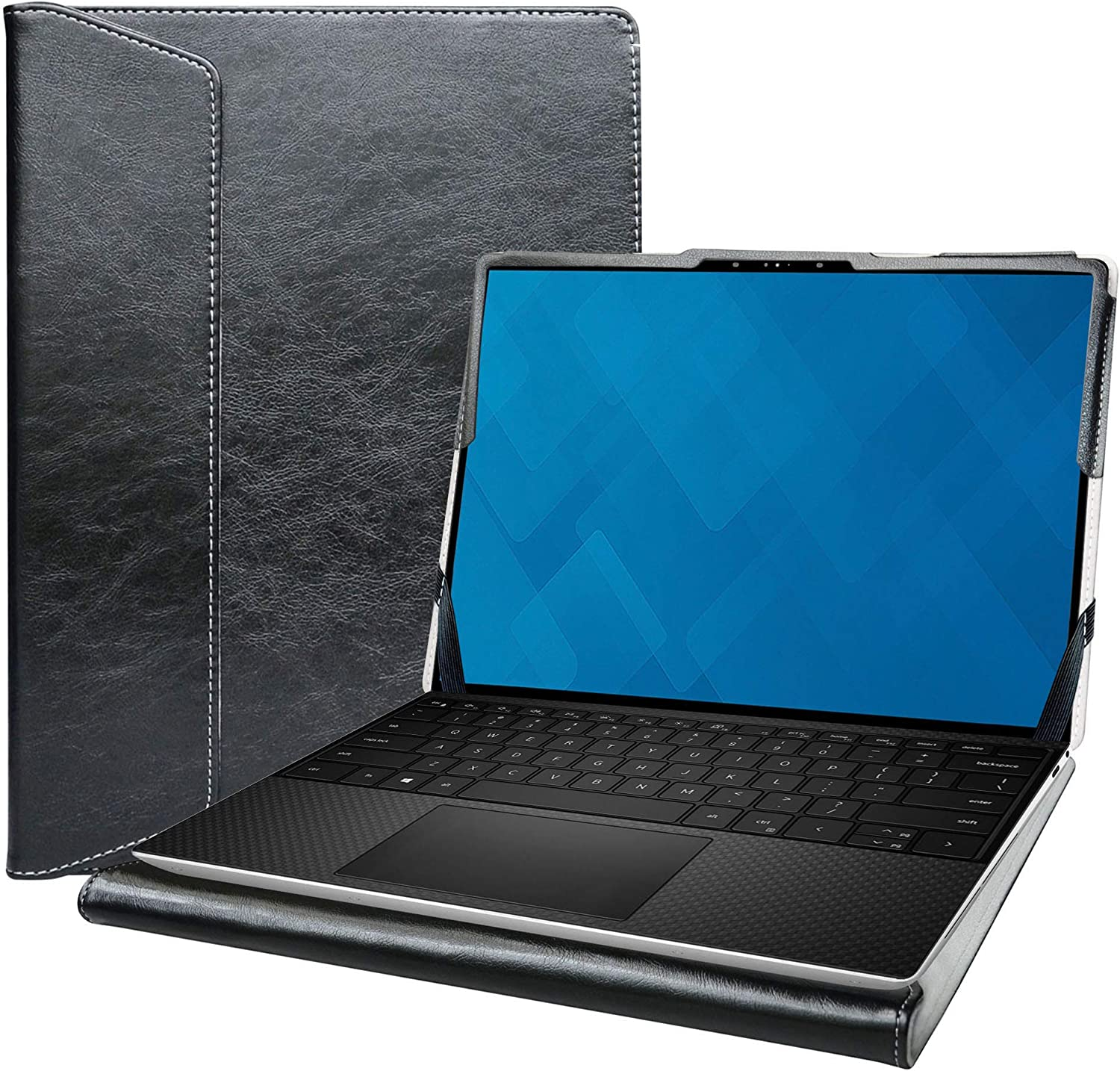 """Alapmk Protective Cover Case for 13.3"""" Dell XPS 13 9300 Series Laptop[Note:Not fit XPS 13 7390 9380 9370 9360 9350/XPS 13 2-in-1 9365 7390],Black"""