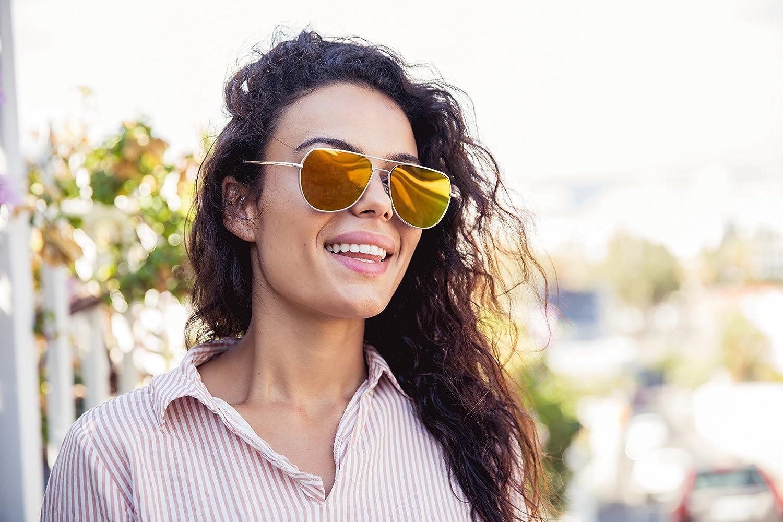 Cheapass Piloten-Sonnenbrille Verspiegelt UV-400 Piloten-Brille Flieger-Brille Farbvariation Unisex