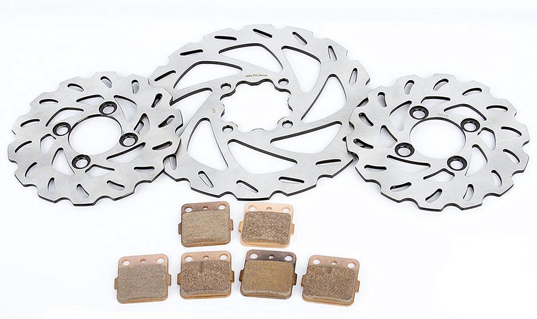 Brake Rotors /& Brake Pads fits Yamaha Banshee YFZ 350 1990-2006 Front /& Rear RipTide
