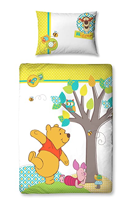 Character world 125 x 150 cm disney winnie the pooh forest junior panel duvet set