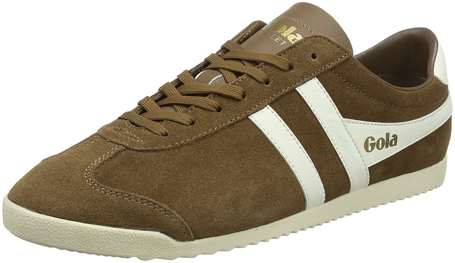 Brown (Tobacco Off White Fix) Gola Men's Bullet Suede Tobacco Off White Trainers
