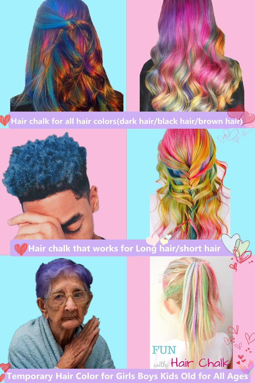 Amazon Hair Chalk Pen Anngrowy 12 Colorful Temporary Hair Chalk