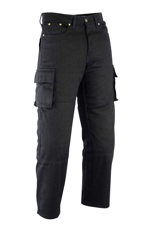65bef9aadd3bb Amazon.fr : Texpeed Jean/pantalon cargo de moto - homme - Kevlar - 6  poches/renforts homologués CE - noir - W32 L32