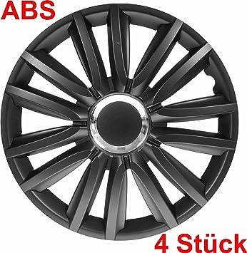 Universal Tapacubos Tapacubo Negro 16 16 pulgadas para el vehículo de ellos Seleccionados, véase