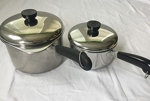 Revere Ware 3 Double Boiler 1 Steamer Inserts for 1 2 /& 3 Qt Saucepans Stainless