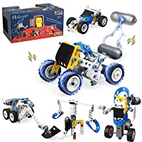 Hoogar Building Toys kit, 10-in-1 STEM Educational Toys Erector Set for Kids, Creative Birthday Gifts for Age 6 7 8 9 10+ Year Yr Old Boys Girls, Engineering Toys Electric Power Building Blocks