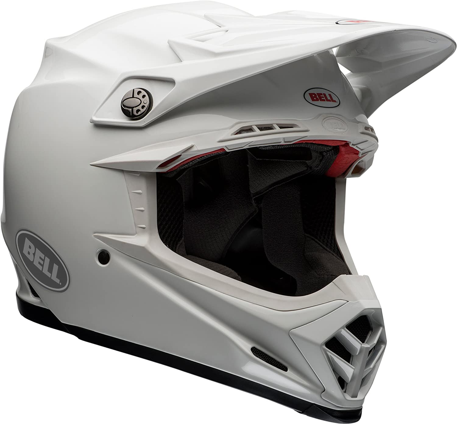 really comfortable retail prices available Bell Moto-9 Flex Off-Road Motorcycle Helmet (Solid White, Large)