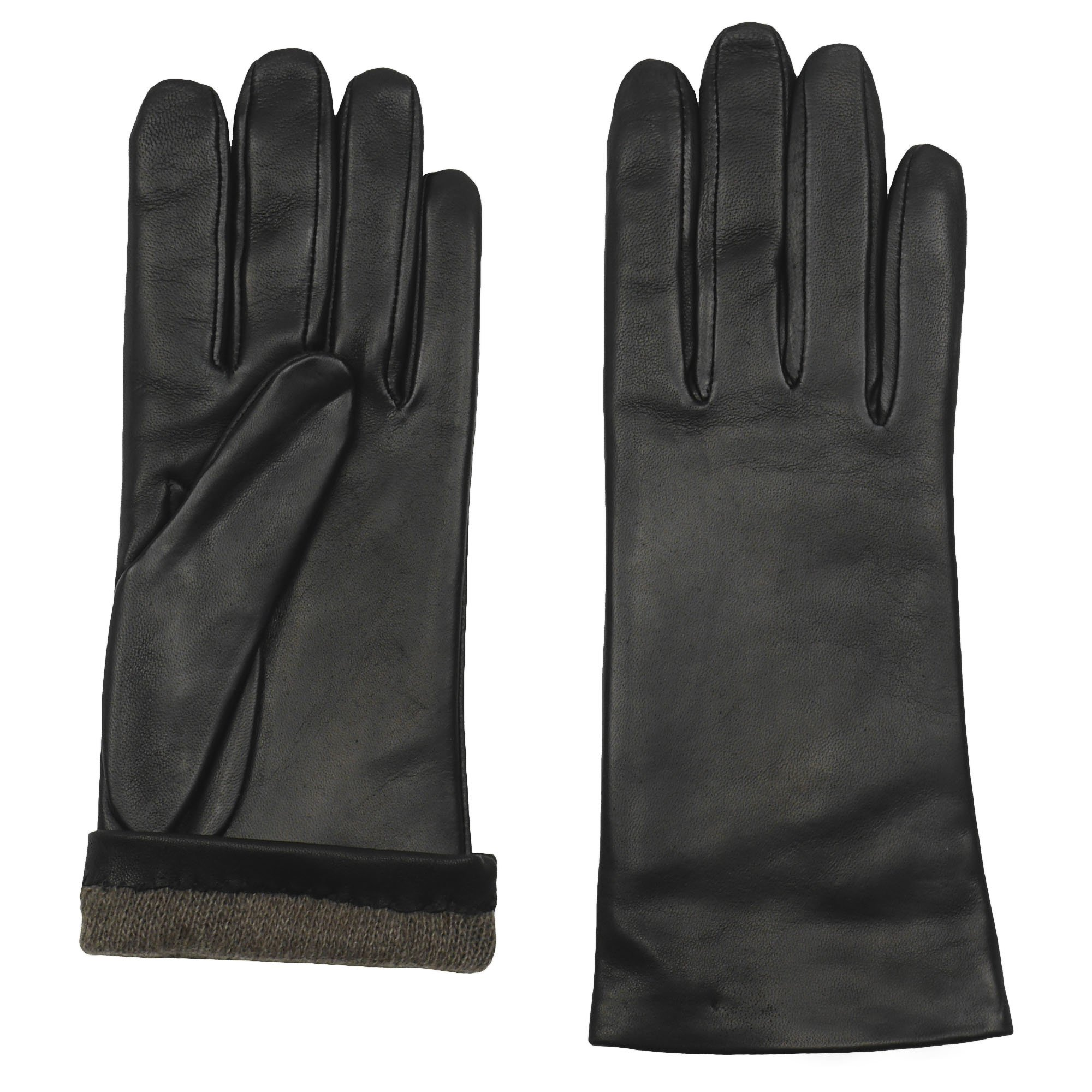 GRANDOE Women's Sheepskin Leather Glove, Cashmere Lined, 2 Btn Length