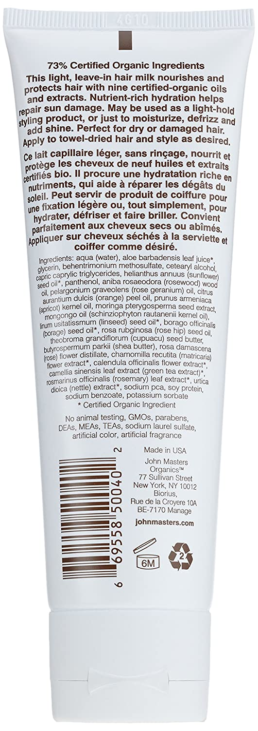 John Masters Organics rose and apricot hair milk, Leave-in Conditioner, 118 ml kaufen