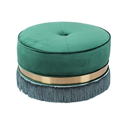 wholesale dealer 812cb 1ef32 Amazon.com: Bombay L3012OT3011 Lyon Fringe Ottoman Emerald ...