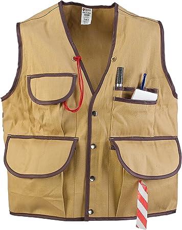 JIM-GEM Pro 10-Pocket Cotton Army Duck Cruiser Vest Large 39-43 Tan
