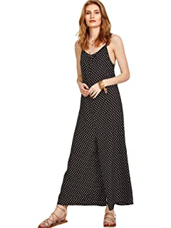 7cdb79469552 ... Plus Size Spaghetti Strap Rompers Harem Pant Playsuit with Pocket ·  $8.99 · DIDK Women's Boho Knot Shoulder Sleeveless Wide Leg Flowy Jumpsuits