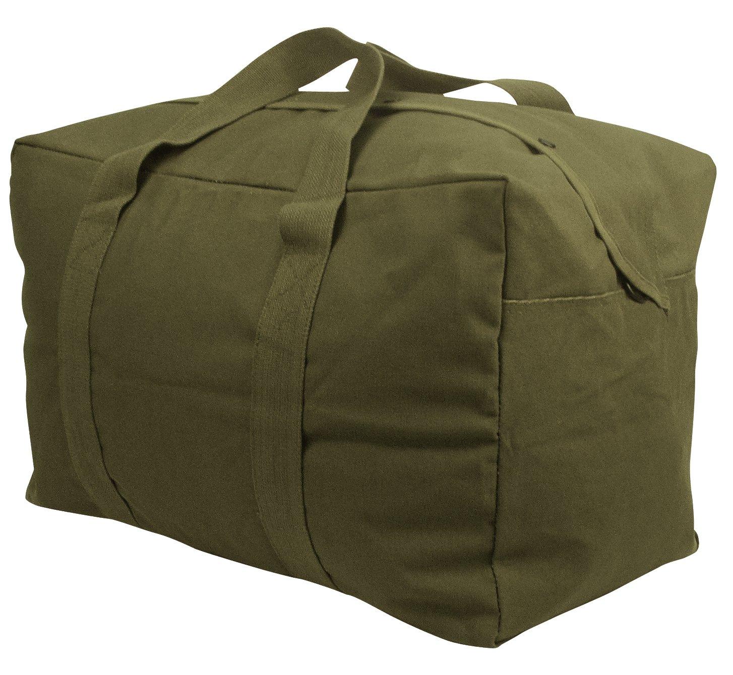 Rothco Canvas Parachute Cargo Bag, Olive Drab