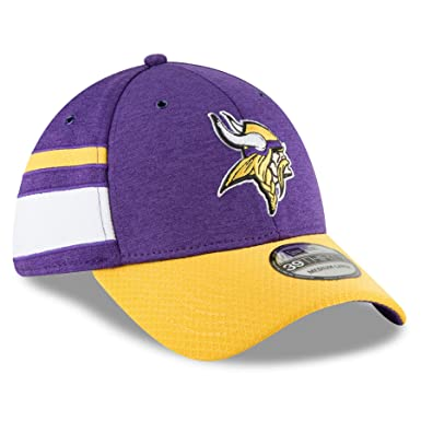New Era Men s Minnesota Vikings 2018 NFL On Field Sideline Hat  Purple Gold White 8b55481a89c