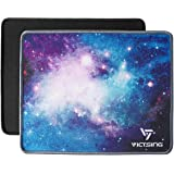 VicTsing Mouse Pads [2-Pack] with Stitched Edge, Premium-Textured Mouse Pad Mat, Non-Slip Rubber Base Mousepad for…