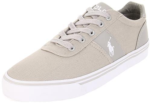 Polo Ralph Lauren - Zapatillas de Lona para Hombre Gris Gris: Amazon.es: Zapatos y complementos