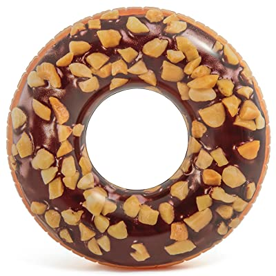"Intex Nutty Chocolate Donut Inflatable Tube with Realistic Printing, 45"" Diameter: Toys & Games"