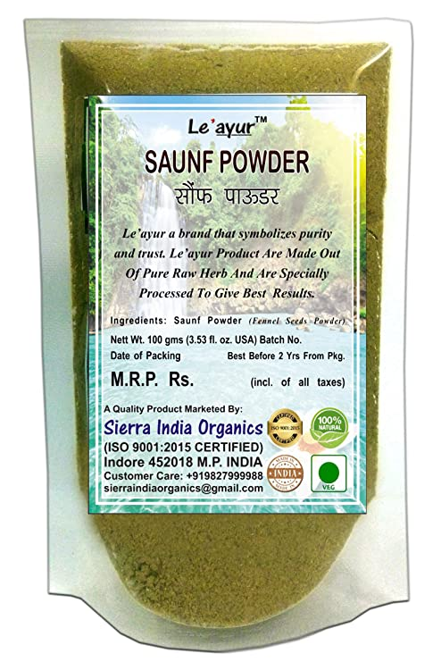 Le'ayur Saunf (Fennel Seeds) Powder,100 Gms