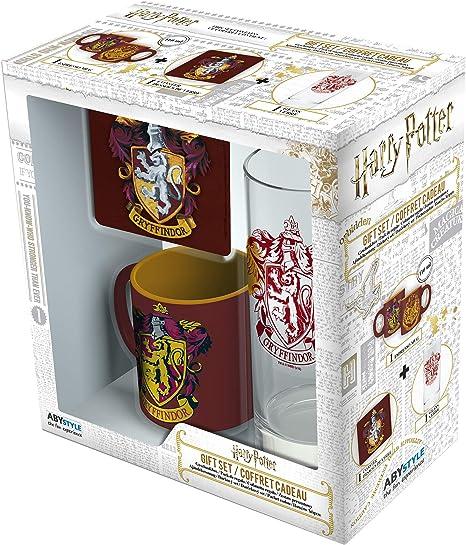 ABYstyle - HARRY POTTER Glass Pack 29cl + Posavasos + Mini Mug ...