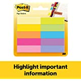 Post-it Page Markers, 1/2 in x 1 3/4 in, Assorted Bright Colors, 50 Sheets/Pad, 10 Pads/Pack (670-10AB)
