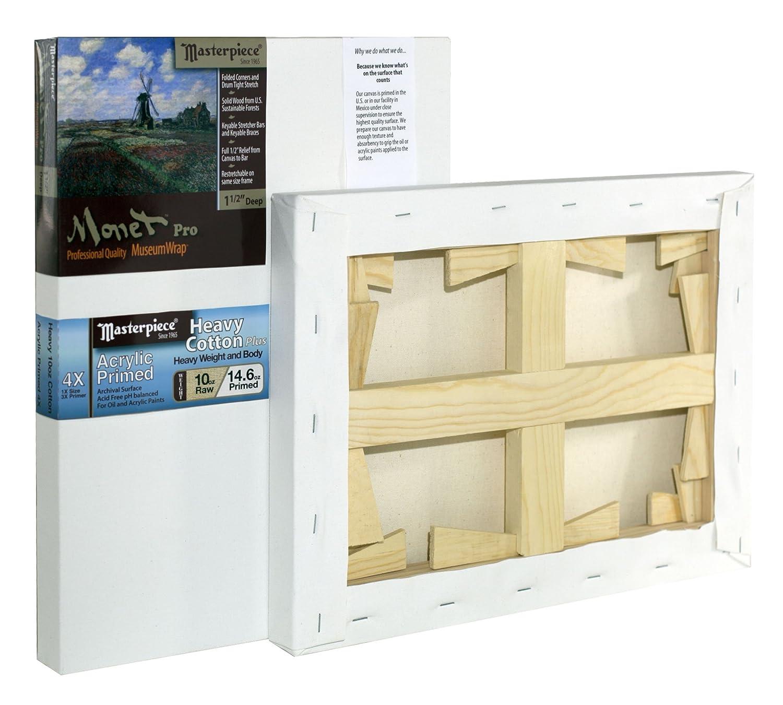 Cotton 14.6oz Masterpiece Artist Canvas 43542 Monet PRO 1-1//2 Deep Tahoe Heavy Weight 16 x 20 4X