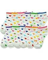 Angelina Dozen-Pack COTTON Low Cut Socks, #2305_CHR_6-8